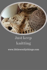 Just keep knitting