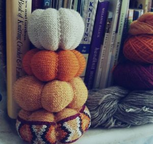 Autumn Pumpkin Trio by Wendelika Cline