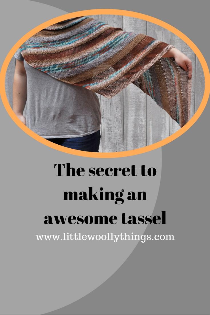 Little Woolly Things blog post tassel tutorial
